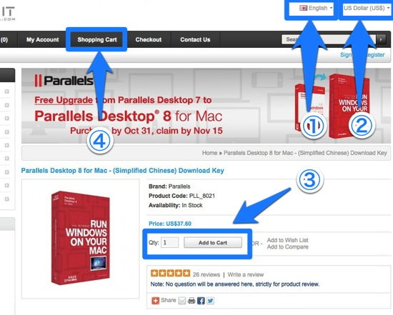 Parallels how to buy
