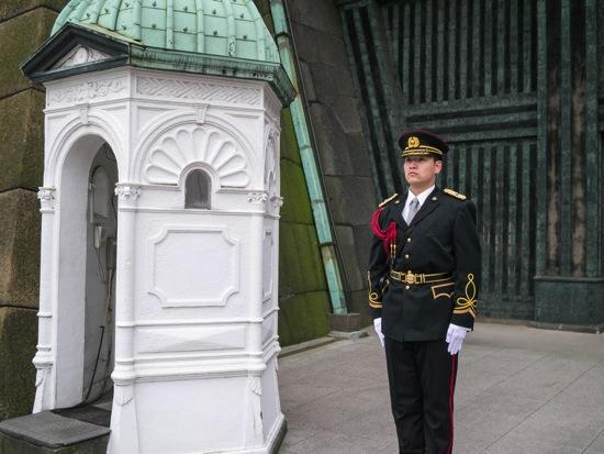 Emperor police standing